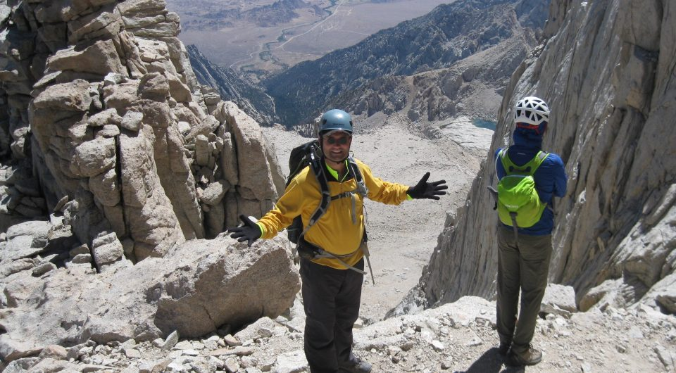 140725 Philippe descending from Mount Whitney (4421 meters)